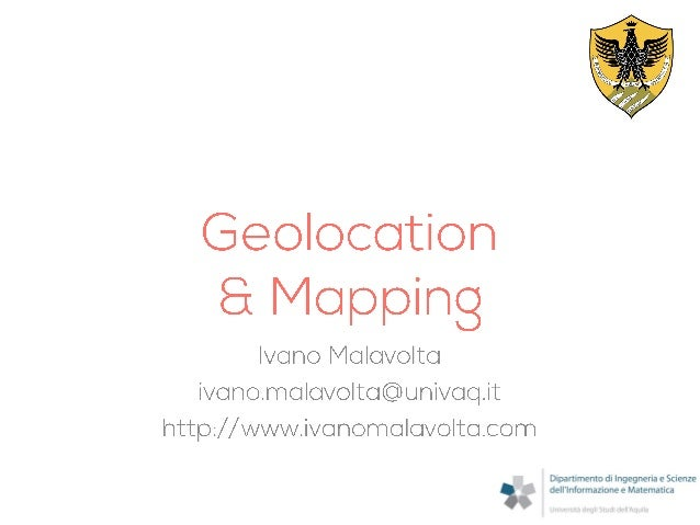 Geolocation and Mapping in PhoneGap applications