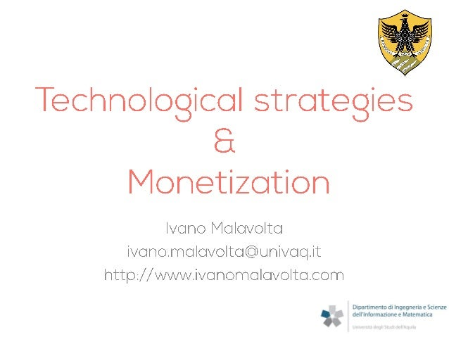 Mobile Apps Development: Technological strategies and Monetization