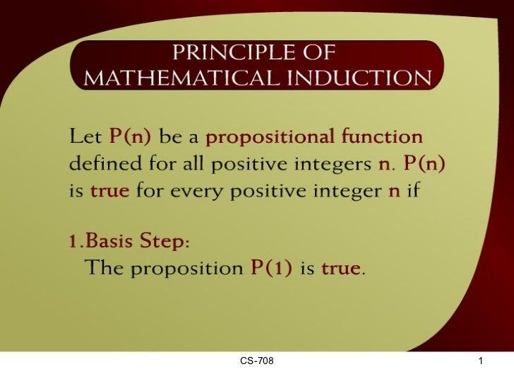 Principle of Mathematical Induction – (23 - 2)