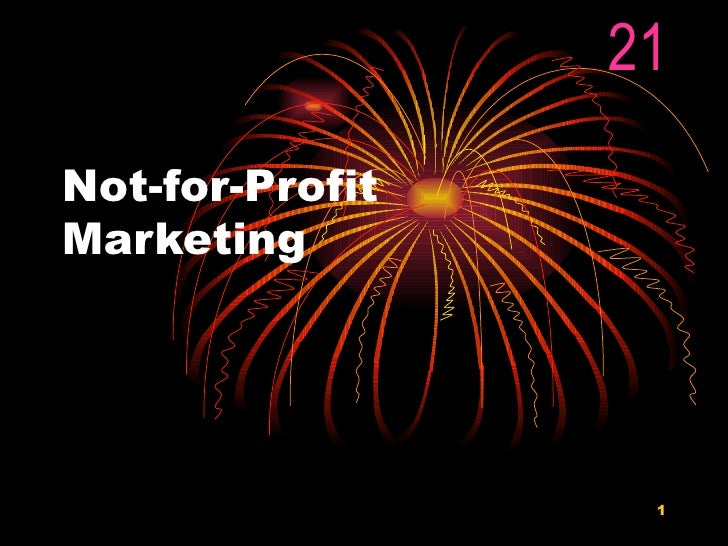 Not-for-Profit Marketing  21