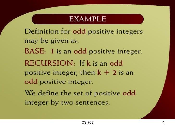 Lecture 18 recursion