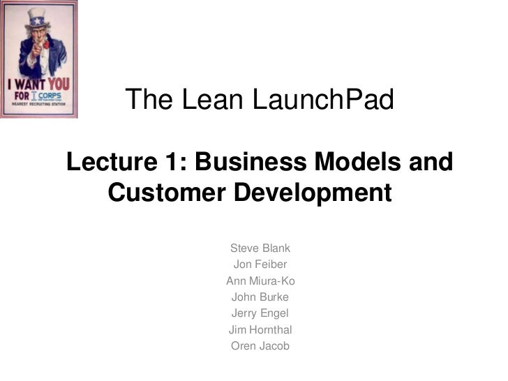 Lecture 1 intro bus model cust dev 120411