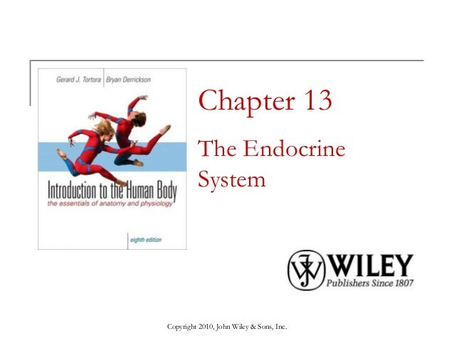 Chapter 13 The Endocrine System  Copyright 2010, John Wiley & Sons, Inc.