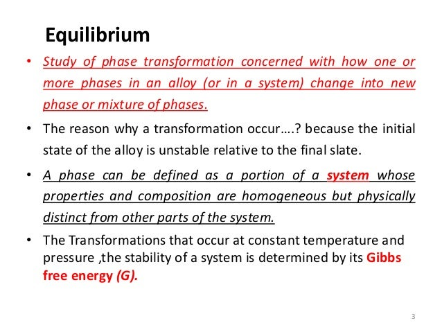 Phase Transformation Lecture Equilibrium  Phase Diagram