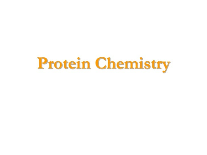 Protein Chemistry