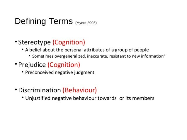 stereotyping discrimination and prejudice 2 essay The tools you need to write a quality essay or to prejudice and discrimination in based on prejudice - prejudice: stereotyping a person based on.