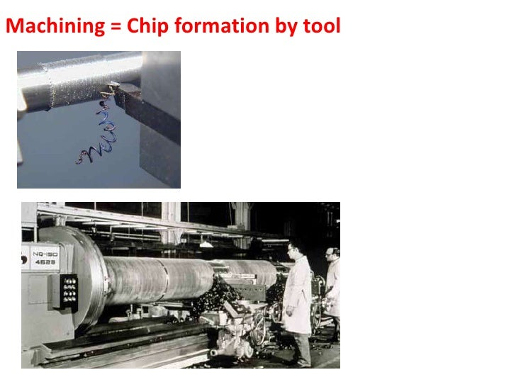 Machining = Chip formation by tool<br />