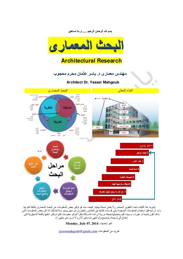 Architecture Research - البحث المعمارى