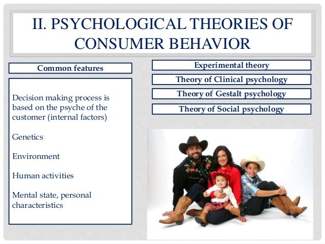 theories of consumer behaviour The second unit of the course introduces you to the analysis of consumer behavior the decisions that individuals make about what and how much to consume are among the most important factors that shape the evolution of the overall economy, and we can analyze these decisions in terms of their underlying preferences.