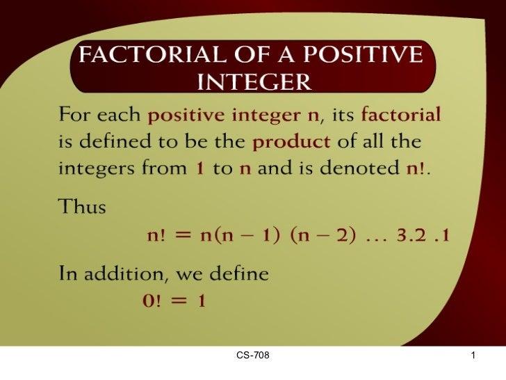 Factorial of a Positive Integer – (30 - 2)