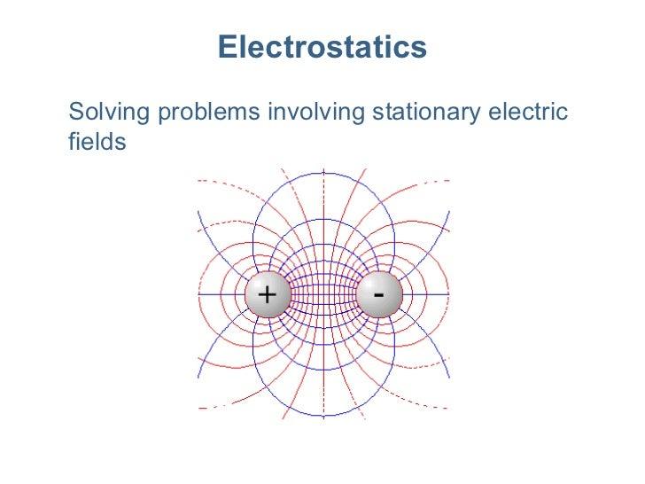 Electrostatics Solving problems involving stationary electric fields