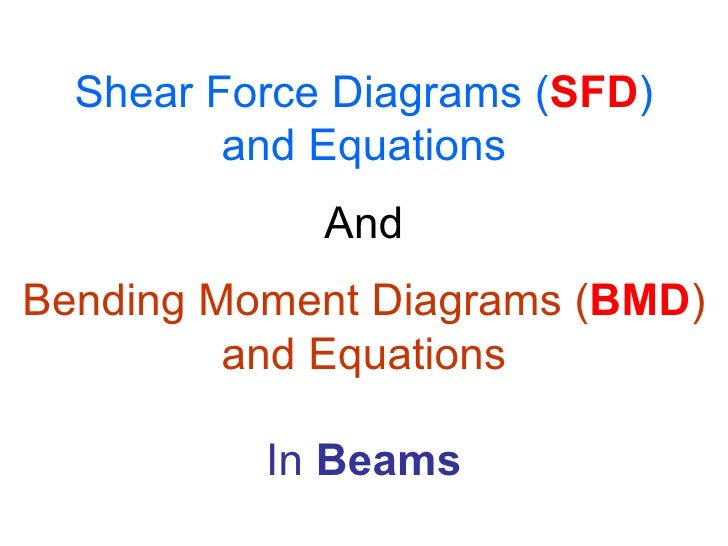 Shear Force Diagrams ( SFD ) and Equations And Bending Moment Diagrams ( BMD ) and Equations In  Beams