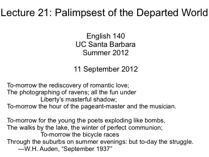 Lecture 21 - Palimpsest of the Departed World