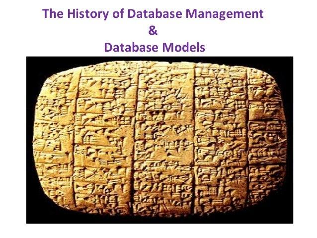 The History of Database Management & Database Models