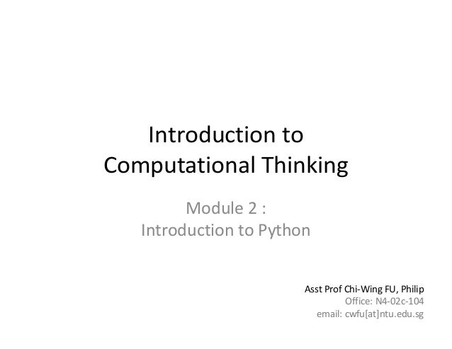 Lecture 2  introduction to python