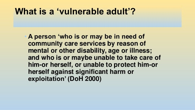 vulnerable adult definition