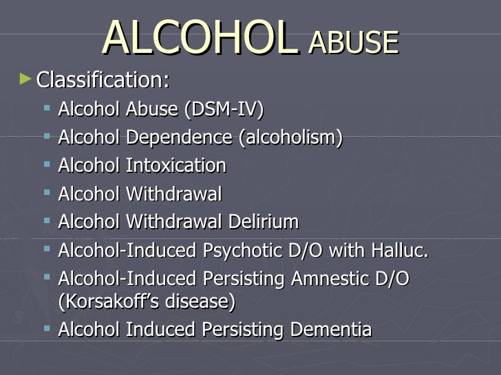 alcohol lecture Psychology graduates with the bac concentration will have completed all coursework requirements to become a licensed substance abuse associate ( lsaa) and licensed alcohol/drug abuse counselor (ladac), pending approval by the nm counseling and therapy practice board the program emphasizes clinical.