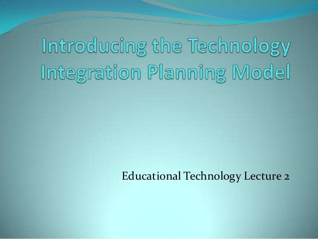 thesis on technology integration