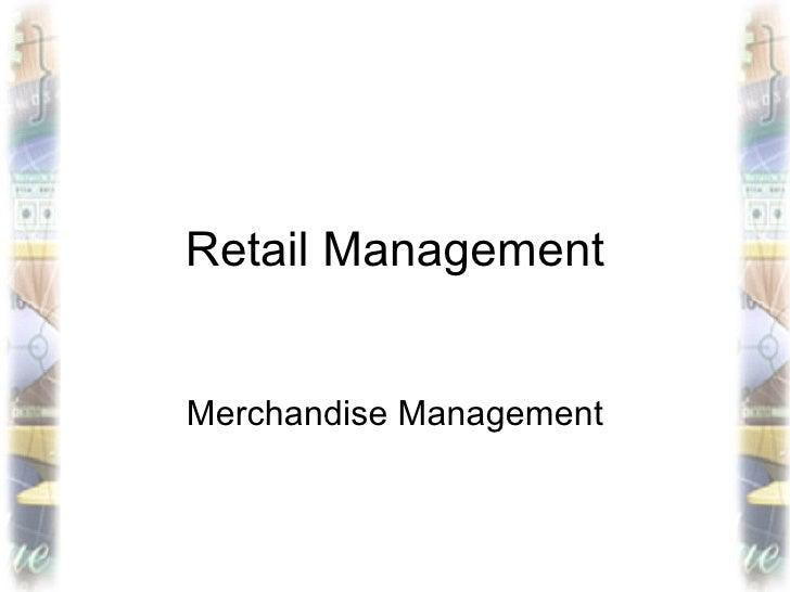 Retail ManagementMerchandise Management