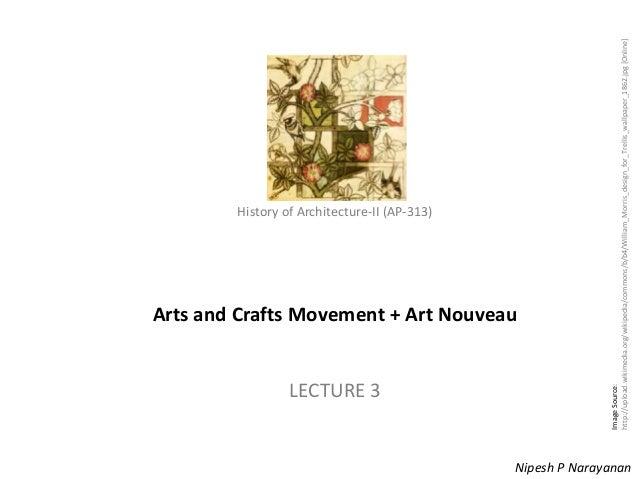 Lecture 3   arts & crafts + art nouveau