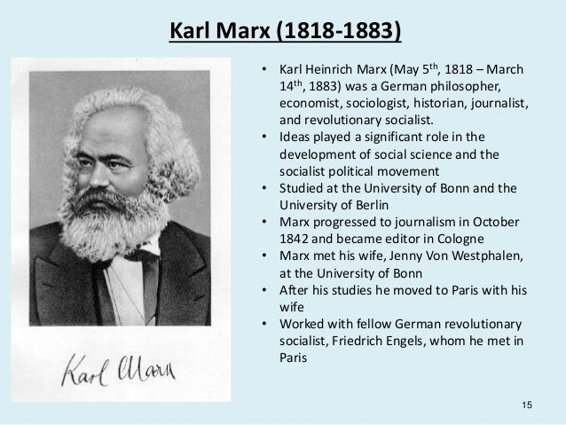 a history of capitalism in the time of karl marx Marx and the concept of historical time social and historical time after capitalism like 'a materialist concept of history' exists within 1 karl marx.