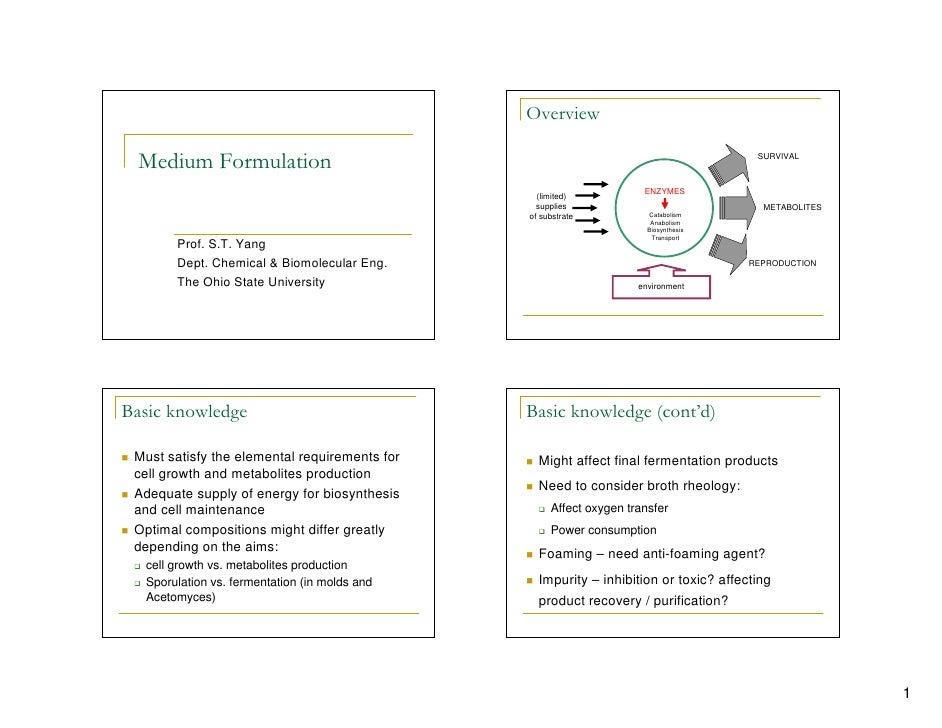 Lecture 3 medium formulation