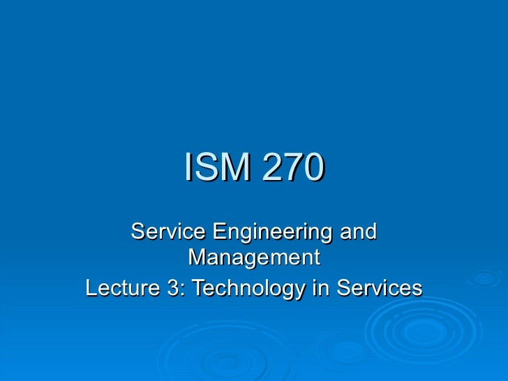 Lecture 3   technology in services