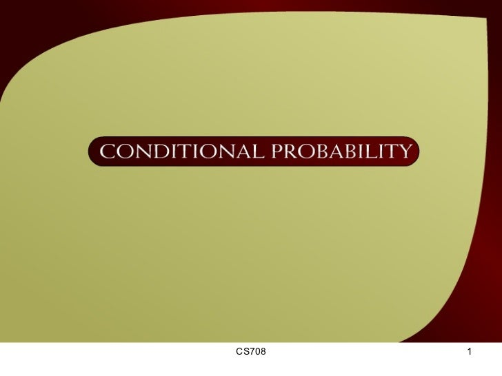 Conditional Probability – (37 - 1)