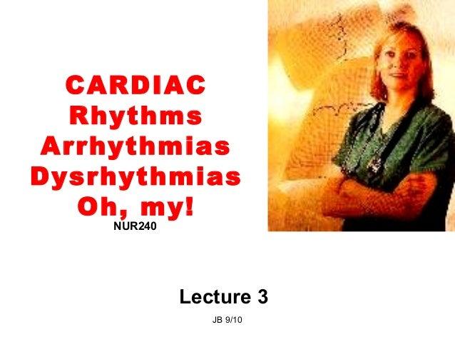 Lecture 3 cardiac rhythms