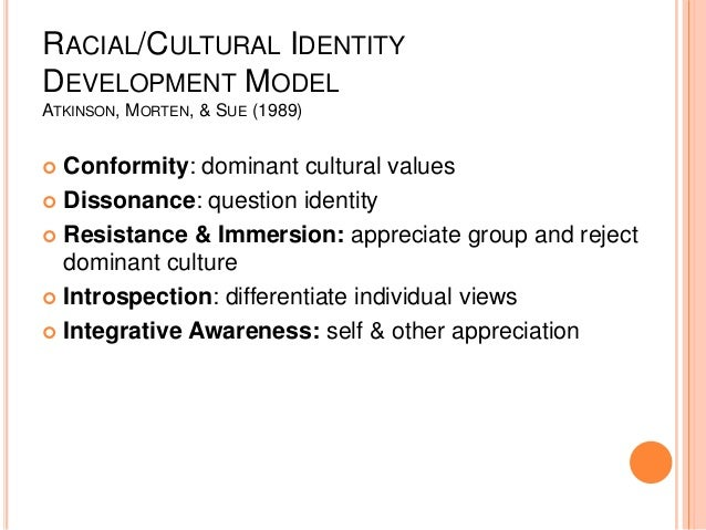 effect of cultural and racial identity on self image The identity development of multiracial youth and internalize a negative image that compromises their sense of self and ability to succeed therefore racial identity in biracial children: a qualitative investigation journal of counseling psychology, 40(2), 221-31 (ej 463 631.