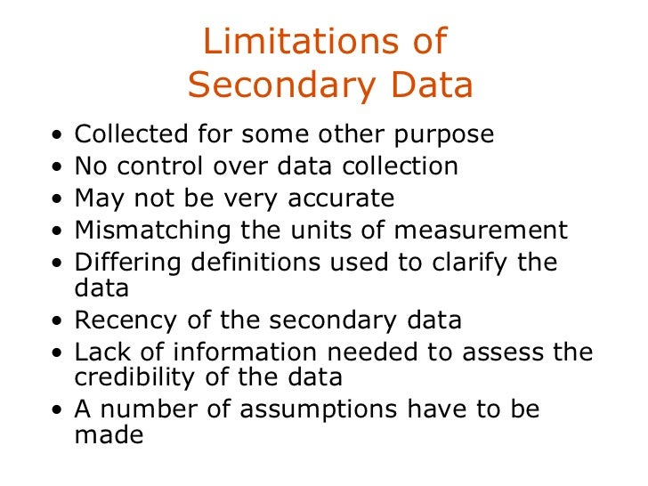 the advantages and disadvantages of secondary data sources in sociology Primary data is always the best sources and the most reliable ones when you  are using a secondary data, you will have to rely on other's.