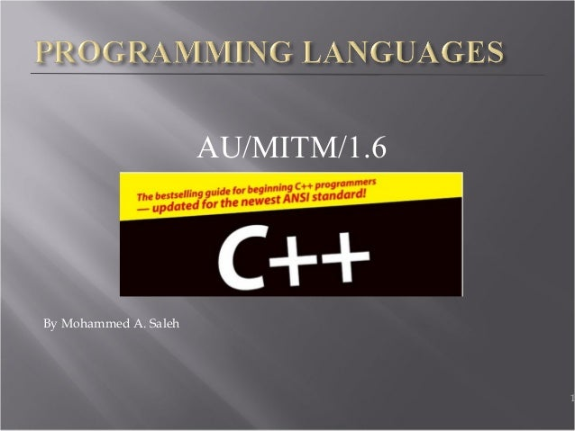 AU/MITM/1.6 By Mohammed A. Saleh 1