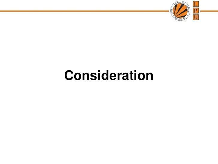 Consideration<br />