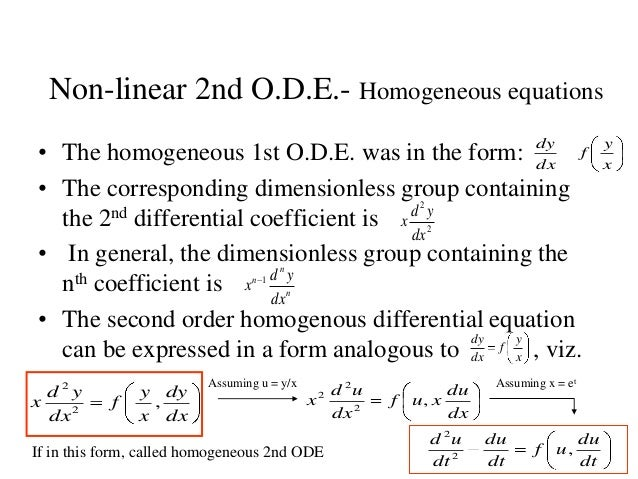 Homogenous differential equations?
