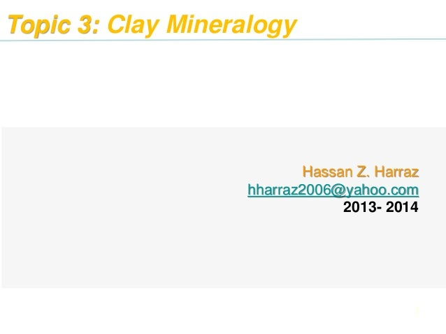 Clay Mineralogy