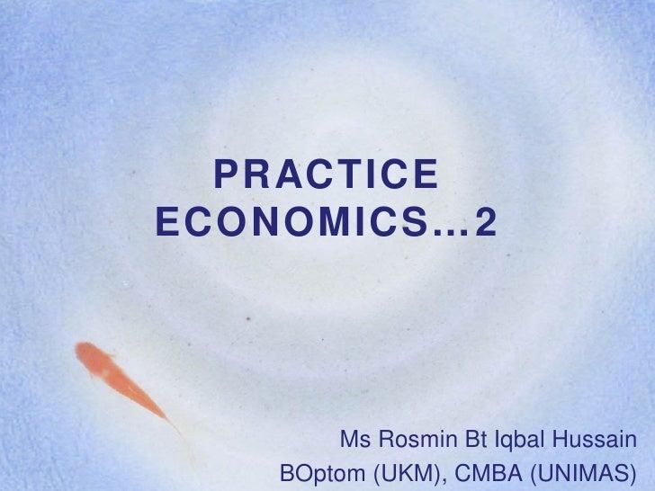 Lecture 4 b practice economics