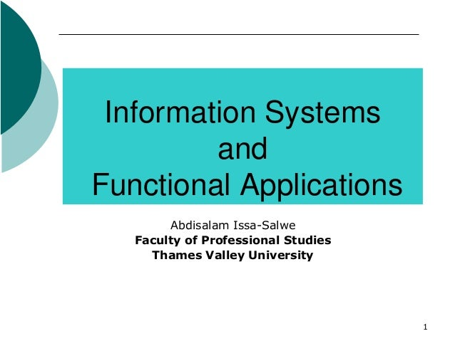 Lecture4(information systems&functional applications)