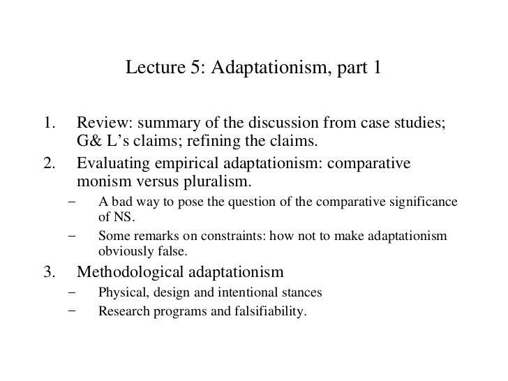 Adaptationism