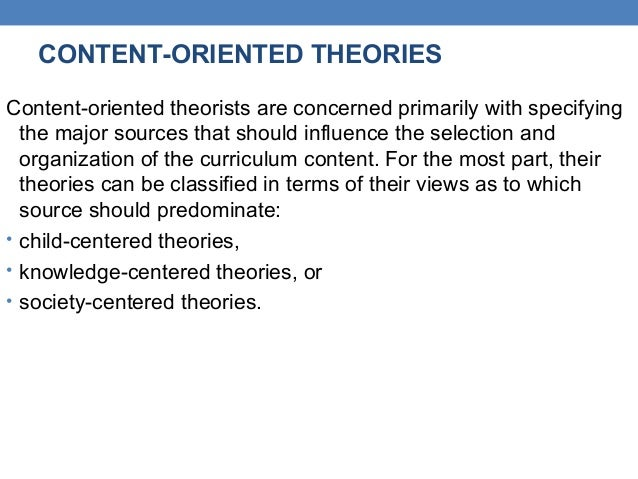curriculum theories
