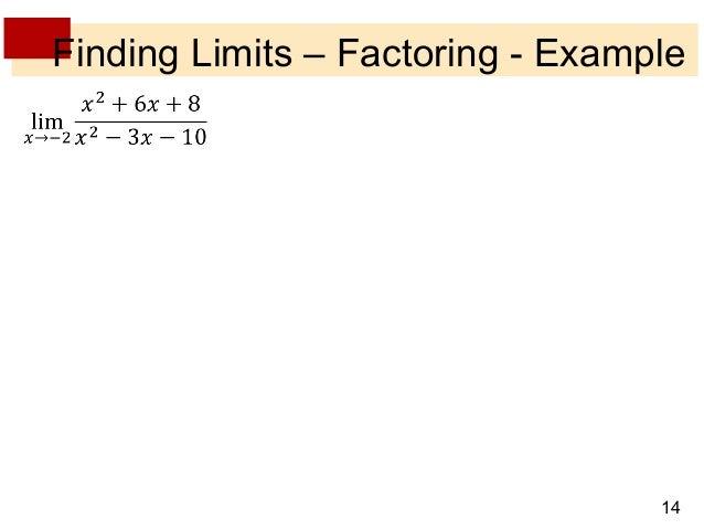 Lecture 5 Limit Laws