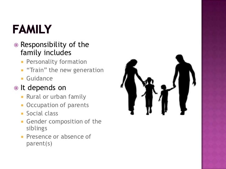 family role on the socialization process Family and school understood as agents of socialization  socialization process shall not achieve suddenly but  primary and secondary socialization, family.