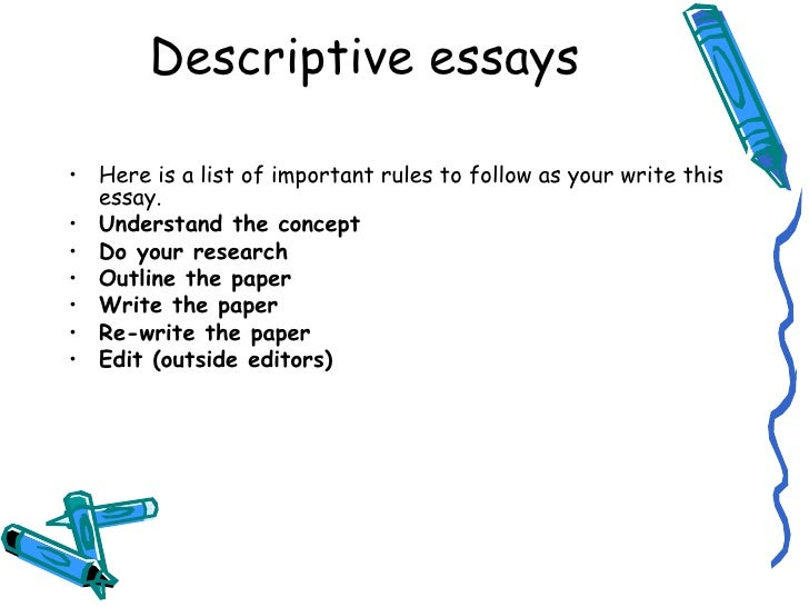 Descriptive essay yourself