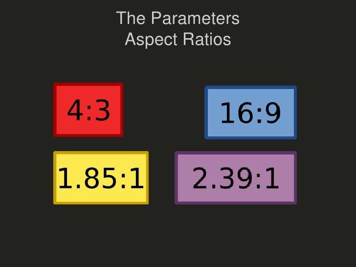 The ParametersAspect Ratios<br />