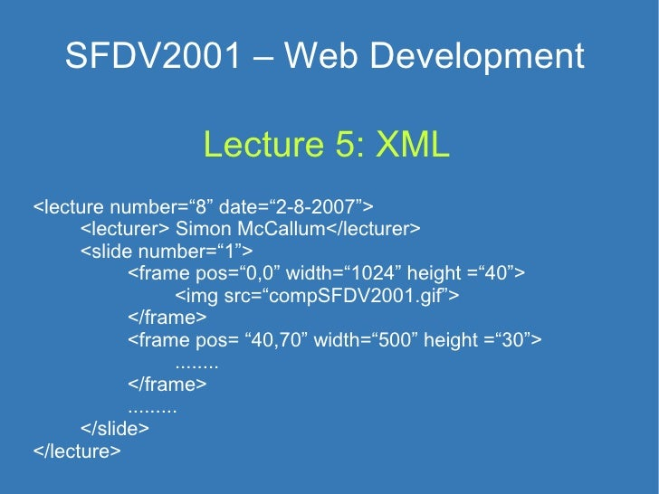 Lecture 5  XML