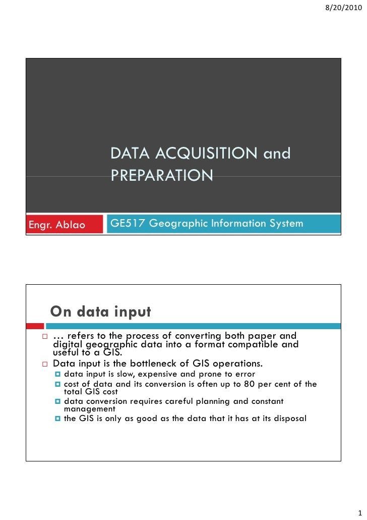 GIS- Lecture 6