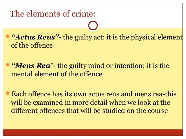 actus reus in law This is a sample of our (approximately) 9 page long actus reus notes, which we  sell as part of the irish criminal law notes collection, a 21 package written at.