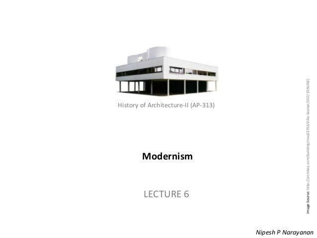 Lecture 6   modernism
