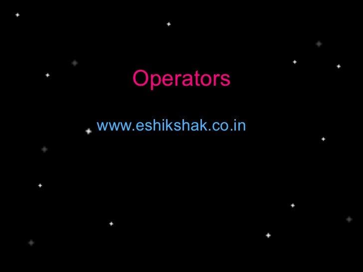 www.eshikshak.co.in Operators