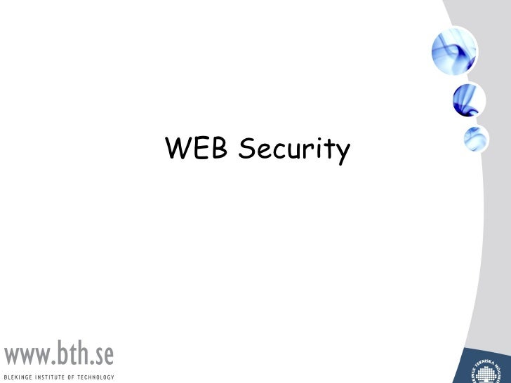 Lecture 6 web security