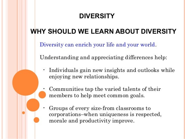 various characteristics components of diversity And other various factors that shape a person's identity cultural and diversity considerations 2 four elements for cross-cultural communication 1.